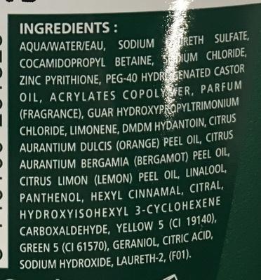 Shampooing Special Pellicules (format économique) - Ingredients - fr