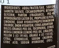 Shampooing douche Tonus Rituels du Maroc - Ingredients