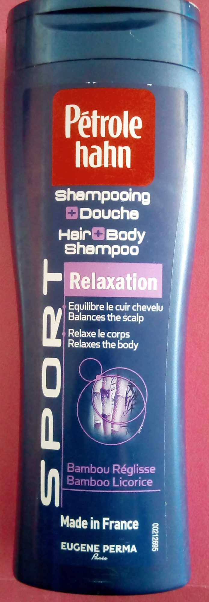 Shampooing + Douche Relaxation Sport Bambou Réglisse - Product