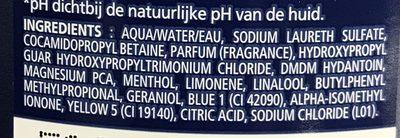 Douche Fraîcheur Mentholée - Ingredients