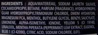 Douche Fraîcheur Epicée - Ingredients - fr