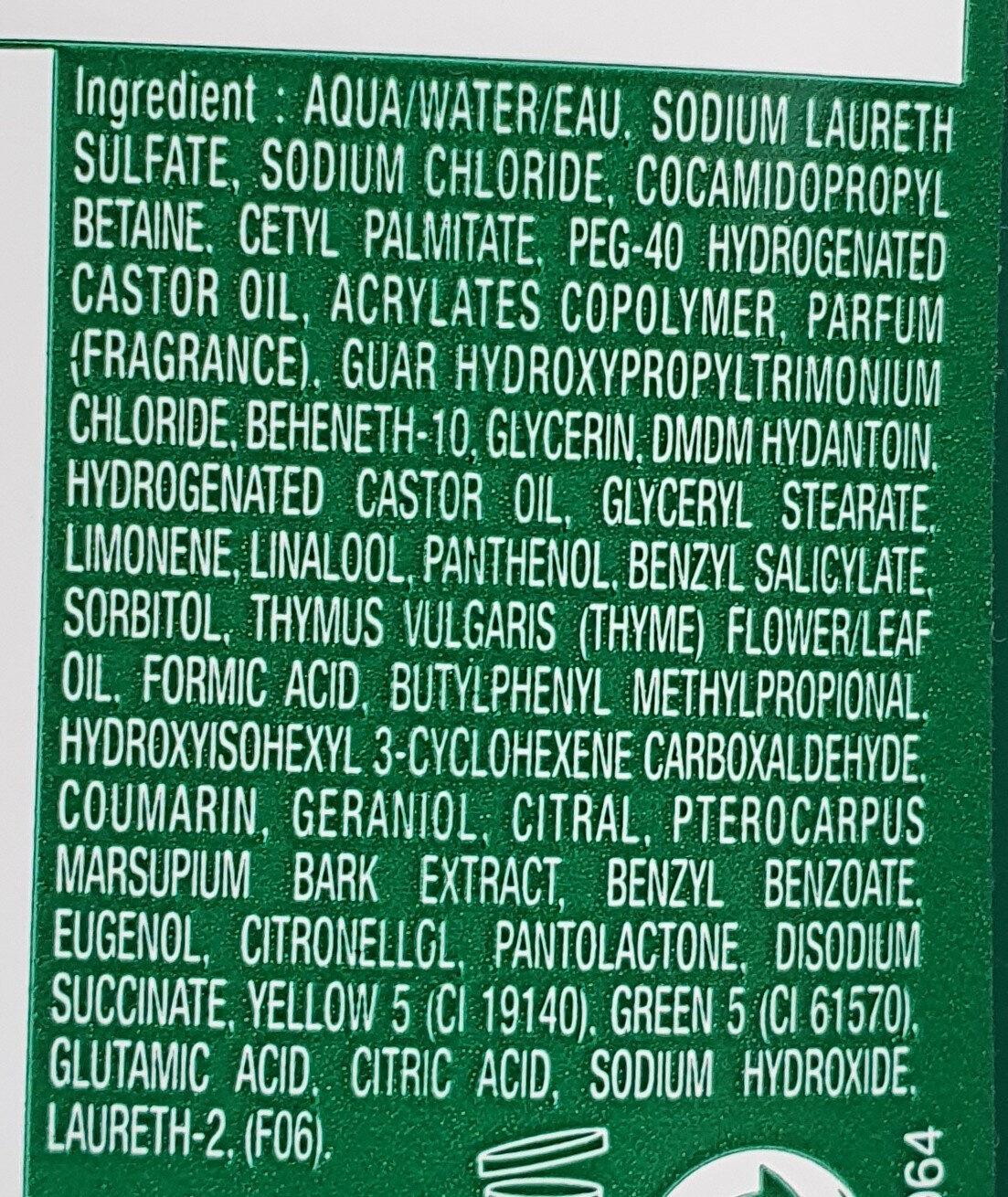 Shampooing anti chute - Ingredients - fr