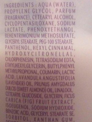 Brume lactée Figue - Ingrédients