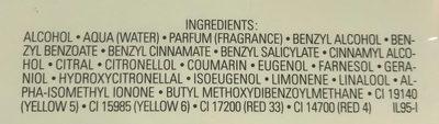 No. 5 Eau de parfum - Ingredients