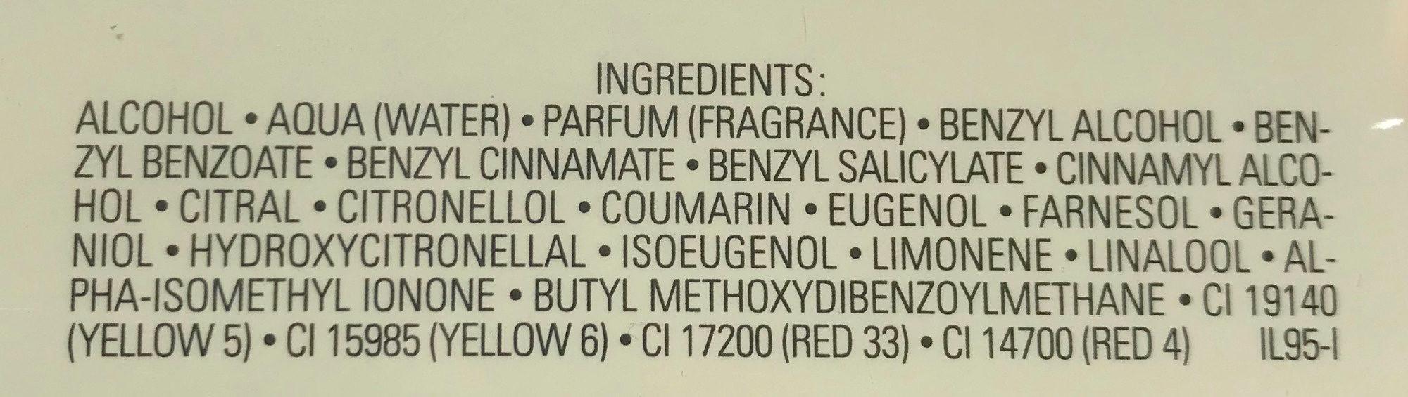 No. 5 Eau de parfum - Ingredients - fr