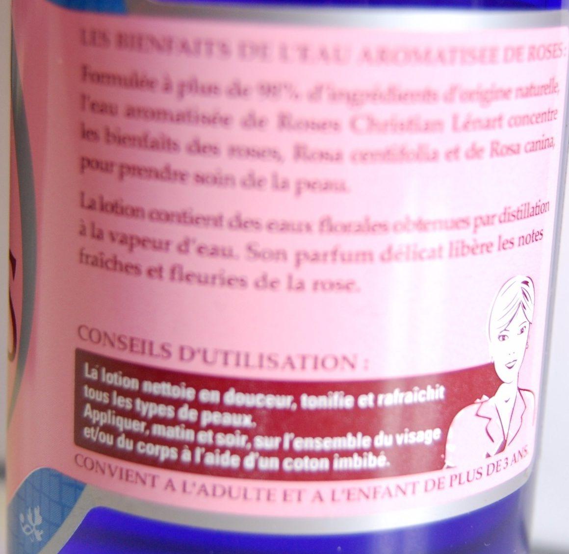 Eau de roses aromatisée - Ingredients
