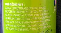 Christian Lenart Eau Fruitee Purifiante - Purifying Fruit Water - Ingredients - fr