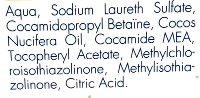 Shampooing anti poux et lentes - Ingredients