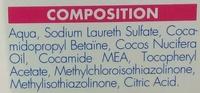 Shampooing anti poux & lentes - Ingrédients