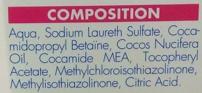 Shampooing anti poux & lentes - Ingredients