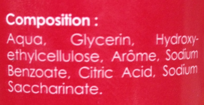 Pomme d'amour Gel de massage comestible - Ingredients - fr