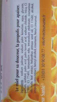 Savon miel propolis - Ingredients