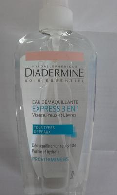 Eau Démaquillante Express 3 en 1 Visage, Yeux et Lèvres - Produit