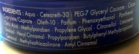 Cire wax brillance - Ingrédients