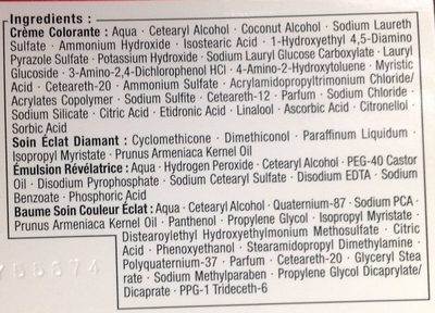 Brillance Rouge Cachemire 842 - Ingredients