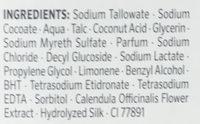 Savon crème surgras - Ingredients