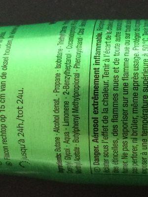 Déodorant lemon tropic - Ingrédients