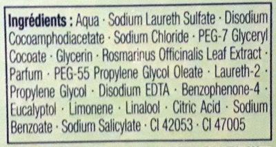 Le Chat Gel lavant Action antibactérienne au Romarin - Ingrédients