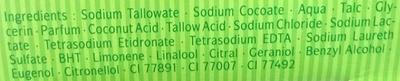 Savon Cologne Fraîcheur Aromatique - Ingredients
