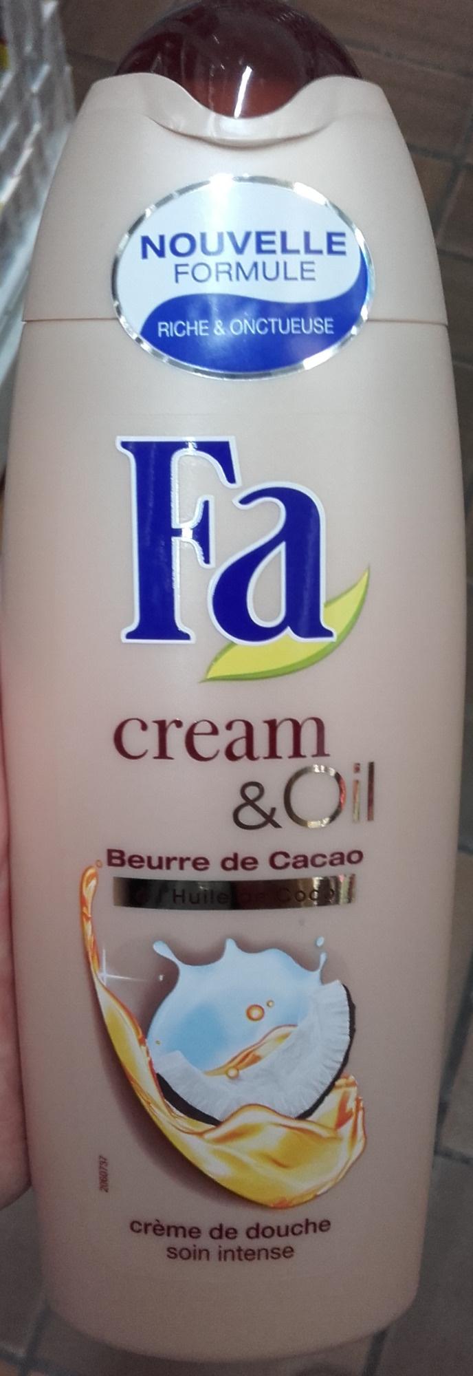 Cream & Oil Beurre de cacao Huile de coco Crème de douche - Produit - fr