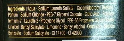 Gel douche parfumé Rouge - Ingredients - fr