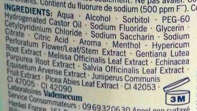 Bain de bouche EXPERT COMPLET 7 - Ingrédients