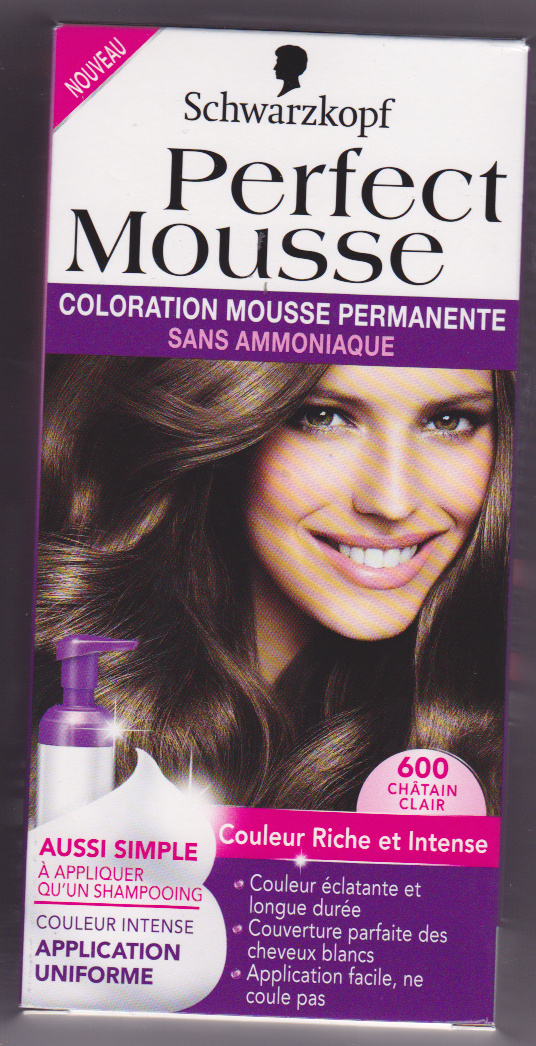 perfect mousse 600 chtain clair product - Coloration Mousse