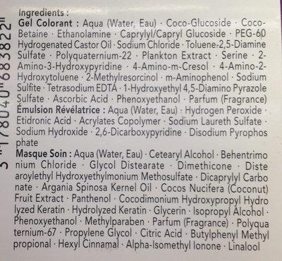 Perfect Mousse Acajou 586 - Ingredients
