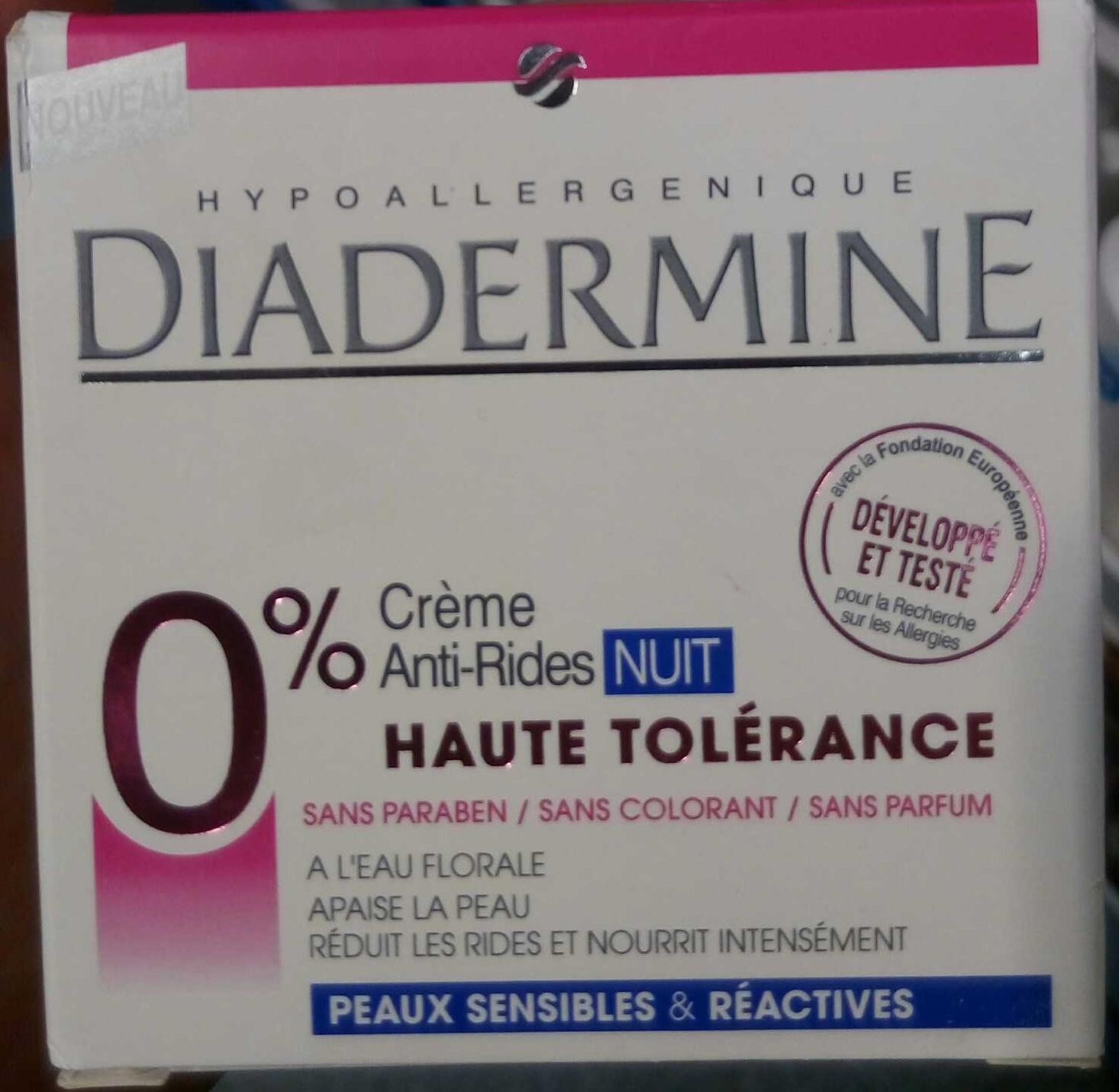 Crème Anti-Rides Nuit Haute Tolérance - Produit
