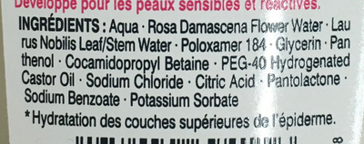 Lotion micellaire démaquillante Haute Tolérance - Ingredients - fr