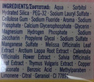 Vademecum Homéophytol - Ingrédients - fr