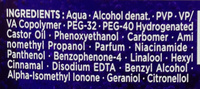 Titane Power gel - Ingredients