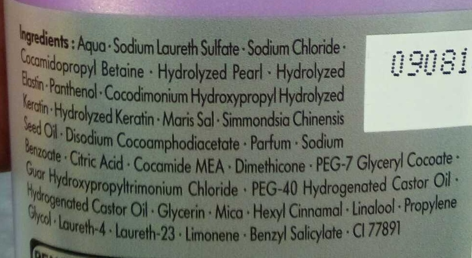 Essence Ultîme Elastin Volume Shampooing - Ingredients - fr