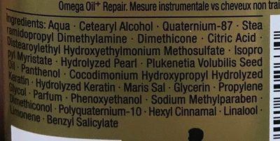 Essence Ultîme Omega Oil+ Repair Après-shampooing - Ingrédients
