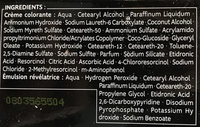 Kit Racines Blond BR1 - Ingredients