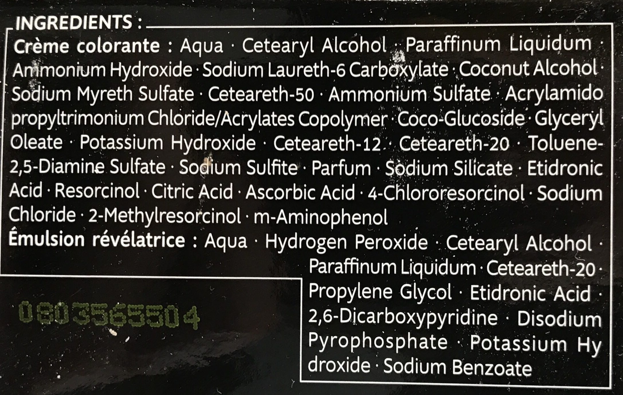 Kit Racines Blond BR1 - Ingredients - fr