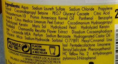 Essence Ultîme Citrus Oil Luminous Blond Shampooing illuminant - Ingredients