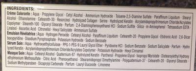 Kératine Color Noir Cachemire 1.0 - Ingredients