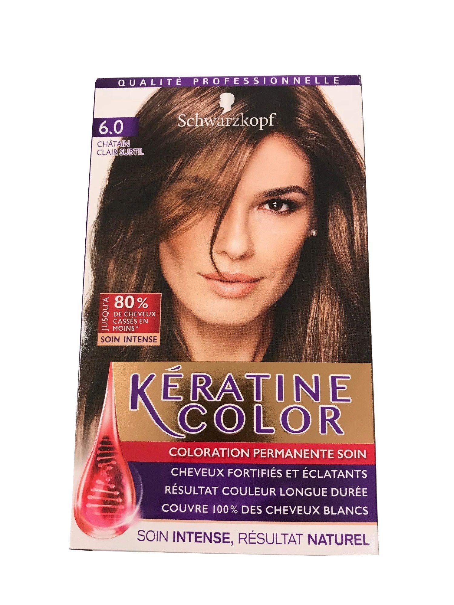 Kératine Color Châtain Clair Subtil 6.0 - Product - fr
