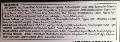 Kératine Color Blond Foncé 7.0 - Ingredients