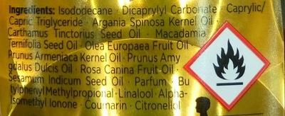 Brume miracle huile légère - Ingrédients