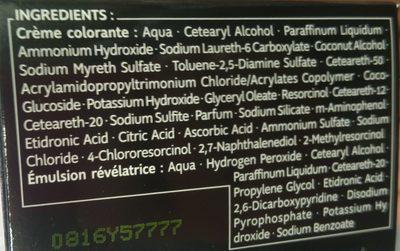 Kit Racines Châtain R6 - Ingredients