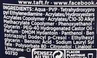 Taft Electro Force Power Gel Fixation surpuissante 72H - Ingredients - fr