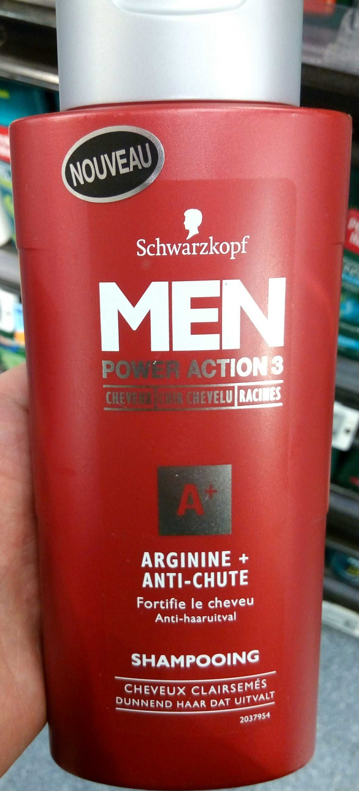 Men Power Action 3 Arginie + Anti-chute - Product