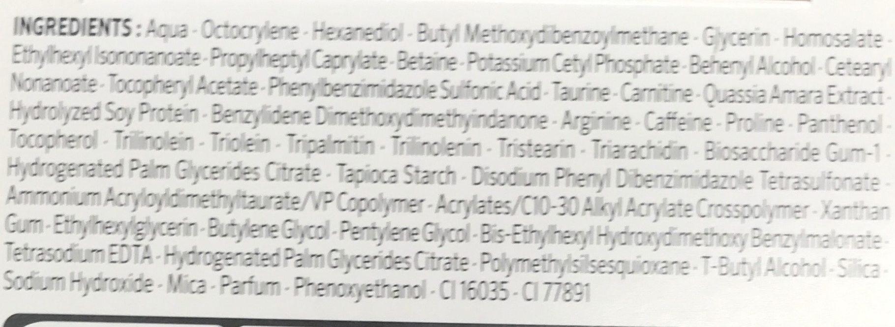 Lift+ Hydratant Soin de Jour SPF 20 Pro-Collagène + Protection UV - Ingrédients - fr