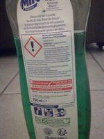 Liquide vaisselle Secrets de Soins amande douce - Ingredients