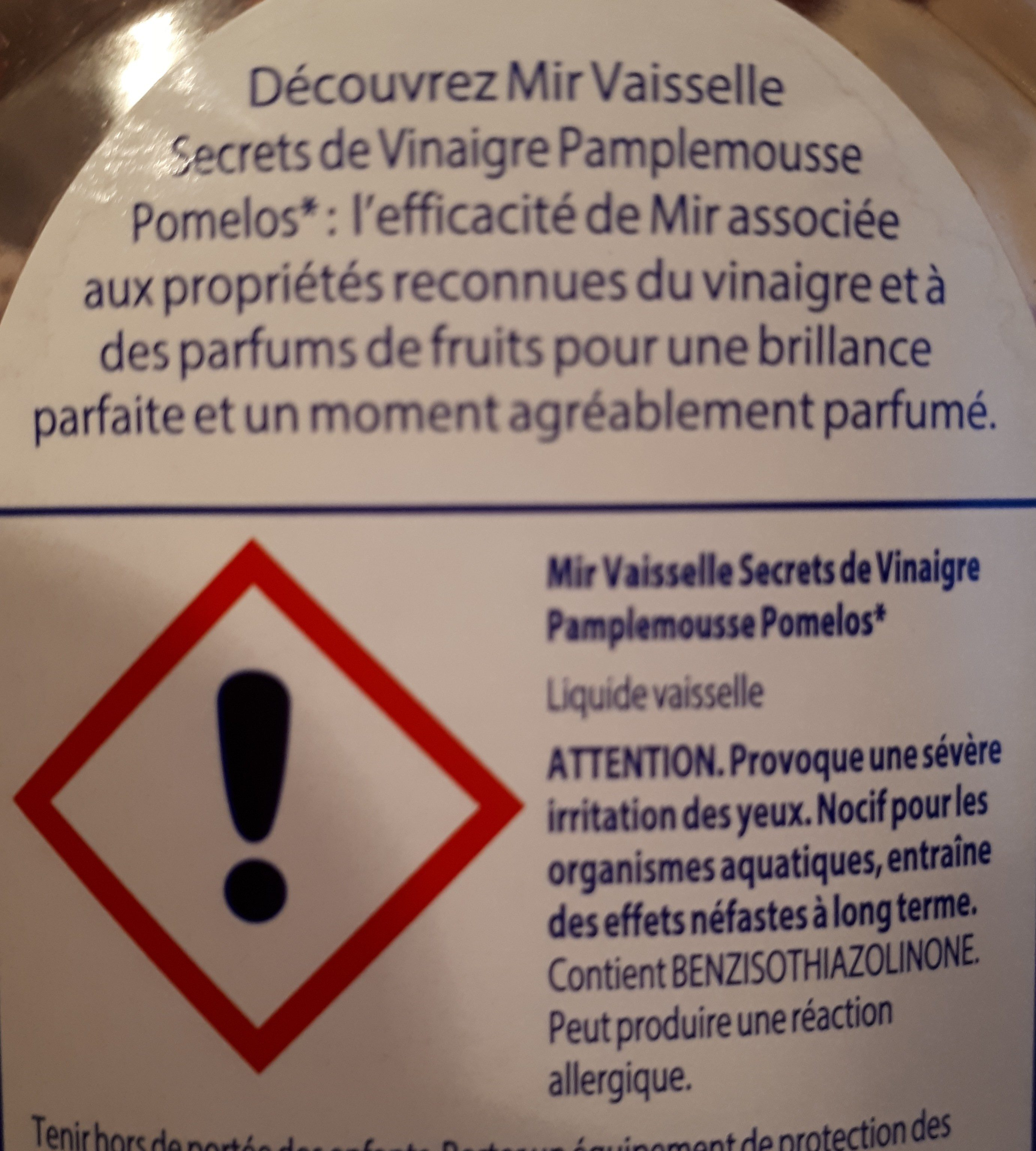 Mir vaisselle - Ingredients - fr