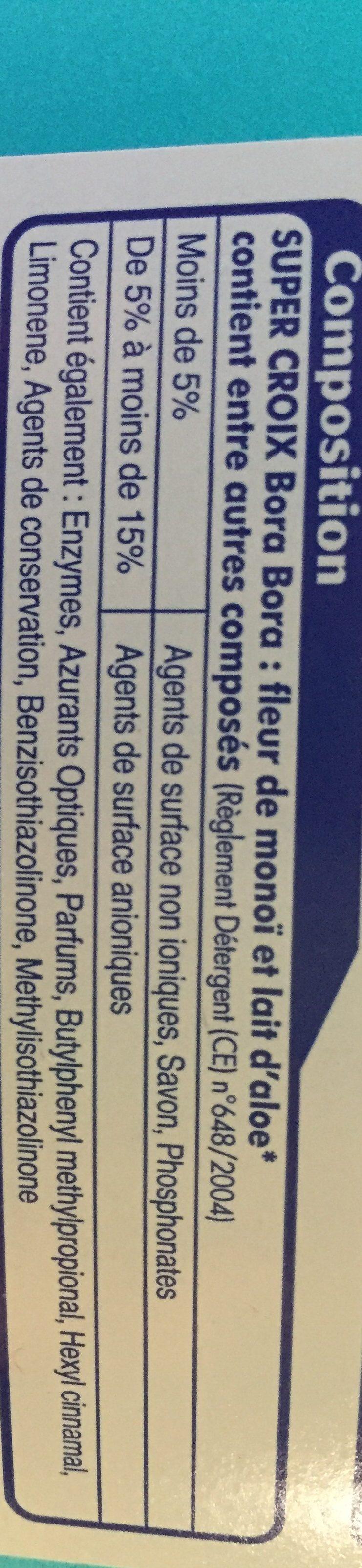 Super Croix - Bora Bora Flüssigwaschmittel [3,010liter] - Ingredients - fr