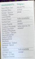 Blancheur & Fraîcheur Citron - Ingredients - fr