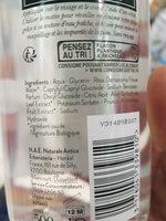 Eau micellaire bio - Ingredients - fr